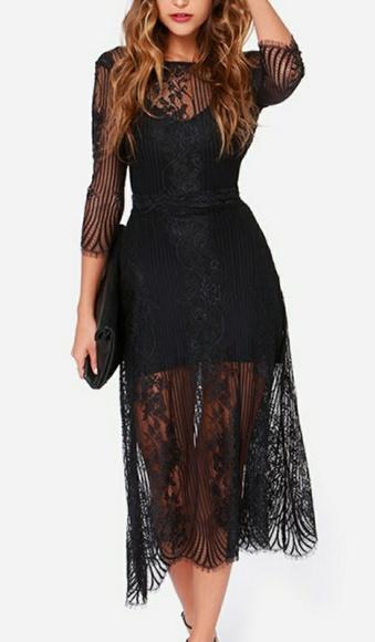 7596690e0fc For Love And Lemons Dresses   Skirts - FOR LOVE   LEMONS SAN MARCOS BLACK  LACE